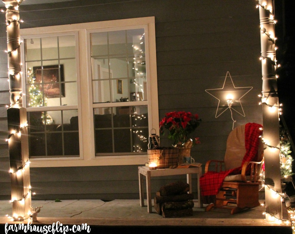 farmhouse christmas porch and inside
